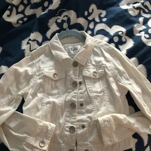 Justice white jean jacket
